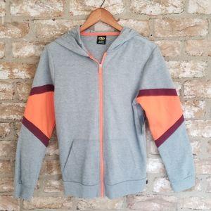 Athletic Works Zip Up Gray Orange Hoodie